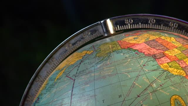 HD 1080i Antique Spinning Globe 1 video