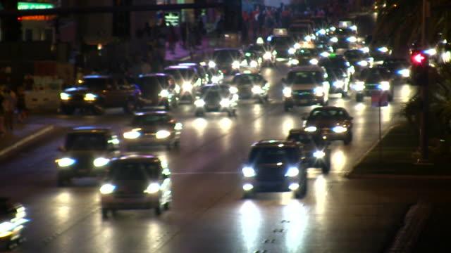 HD 1080i Blurred Las Vegas Strip Traffic 5 video