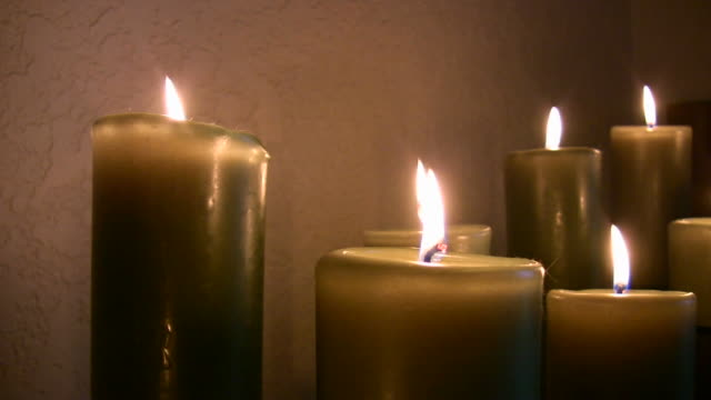HD 1080i Candle Arrangement Burning video