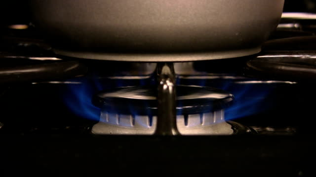 HD 1080i clip of a pot on the stove. video
