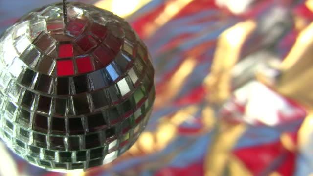 HD 1080i Closeup of small mirror ball 3 video