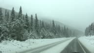 HD 1080i Driving in snow 3 video