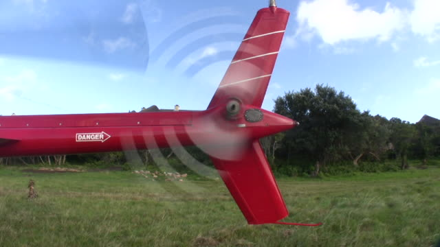 1080i Helicopter Rear Prop in Red video