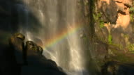 1080i Hogsback South Africa Madonna and Child Waterfall with Rainbow video