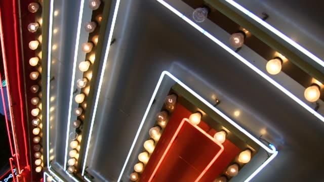 HD 1080i Las Vegas Neon Lights flickering 11 video
