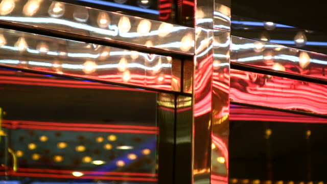HD 1080i Las Vegas Neon Lights flickering 20 video