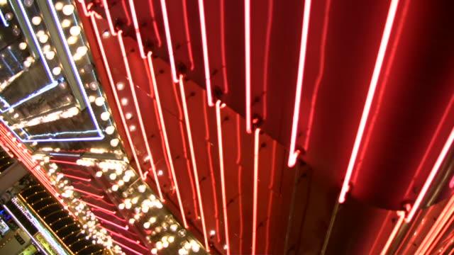 HD 1080i Las Vegas Neon Lights flickering 22 video