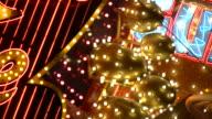 HD 1080i Las Vegas Neon Lights flickering 37 video