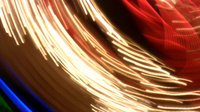 HD 1080i Las Vegas Neon Lights flickering 41 video