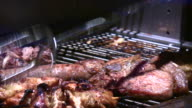 1080i Meat Grilling on BBQ 2 video