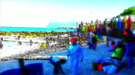 HD 1080i Muizenberg Beach  South Africa crowds animated effect 4 video