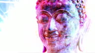 HD 1080i Rotating Buddha Head with FX video