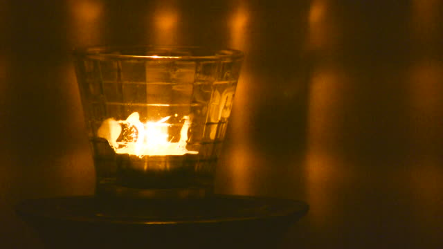 HD 1080i Single Candle Burning 3 video