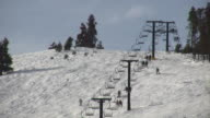 HD 1080i Ski lift on Colorado Resort Mountain 2 video