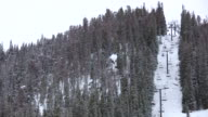 HD 1080i Ski Lift on Colorado Resort Mountain video