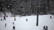 HD 1080i Skiers on Colorado Ski Resort Mountain 6 video