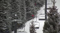 HD 1080i Skiers on Colorado Ski Resort Mountain lift 2 video