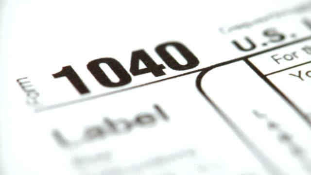HD 1080p 1040 Tax Form video