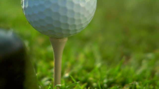HD 1080p - Close up of golf ball tee off video