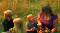 HD 1080p- Family Eats Apples video