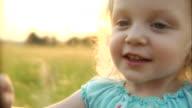 HD 1080p - Girl blows dandelion seeds video