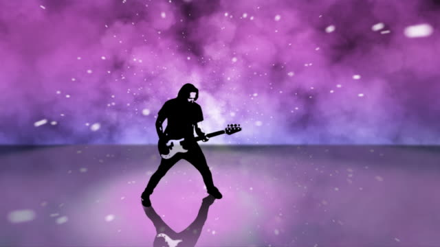HD 1080p Rock Guitar Player Composite video