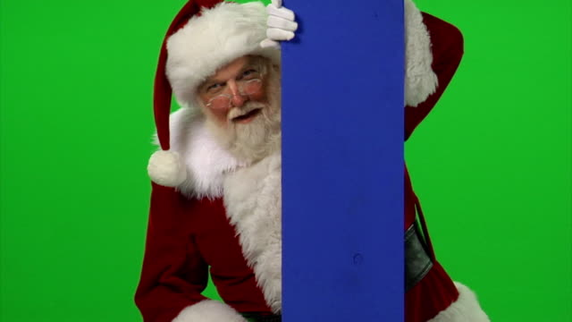 HD 1080p - Santa peeking around video