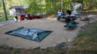 1080p time-lapse of campsite teardown at Sherando Lake campground video