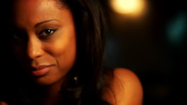 HD 1080p - Woman at Bar Seduces Camera video