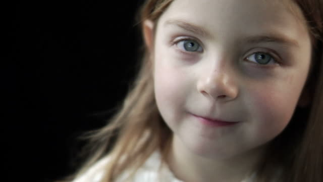 HD 1080p - Young Girl Smiles in Slow Motion video