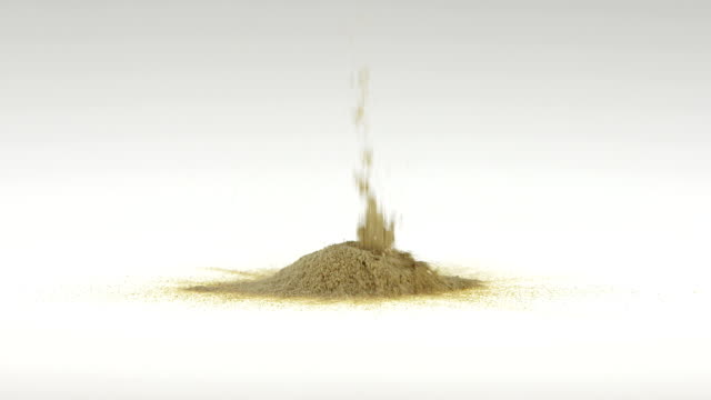 180fps Super Slow Motion Maca Falling on White Surface video