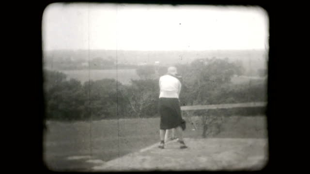 1930s Woman Golfing - 16mm video