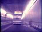 1970s North America: Camper, Caravan, RV through tunnel (8mm film) video