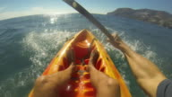 1st person view of kayaking video