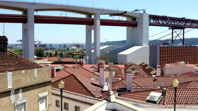 25thof April Bridge over the Tagus river in Lisbon video