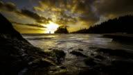 2nd Beach sunset time lapse HD video