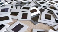 35mm Photographic Slides Falling into a Pile video