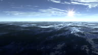 3d animation seascape at sunset video