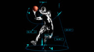 3d BASKET assist man with technical data video
