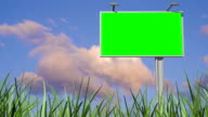 3d billboard animation, green screen alpha video
