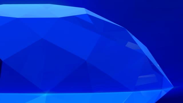 3d blue diamond rotate video