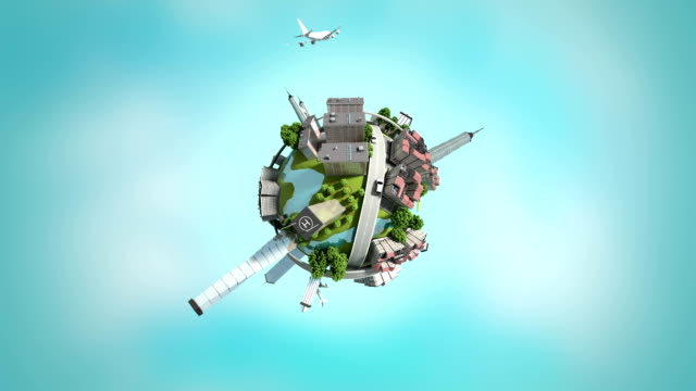 3d generated mini world, loopable. video