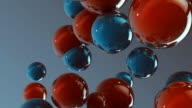 3d glass spheres HD video