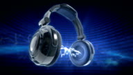 3d Headphones animation, with equalizer video