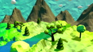 3d low poly landscape video
