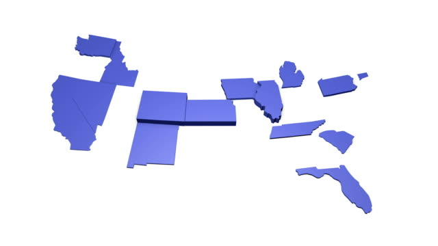 3d Map of the USA video