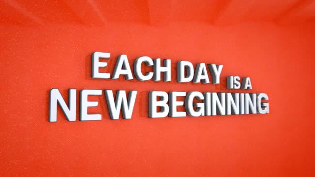 3d motivating phrase over an orange background video