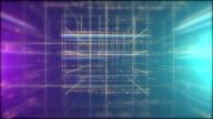 3d number grid loop video