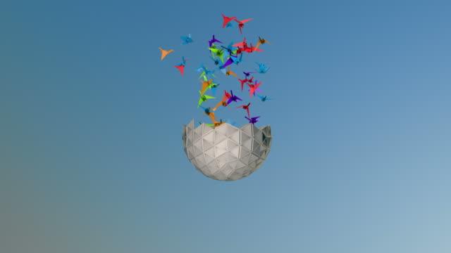 3d Origami Crane video
