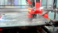 3d printer prints red smile red plastic video